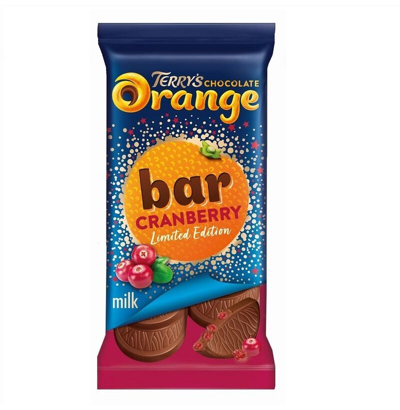 Terry's Chocolate Orange Cranberry Bar 90g