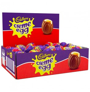 Box of creme eggs France