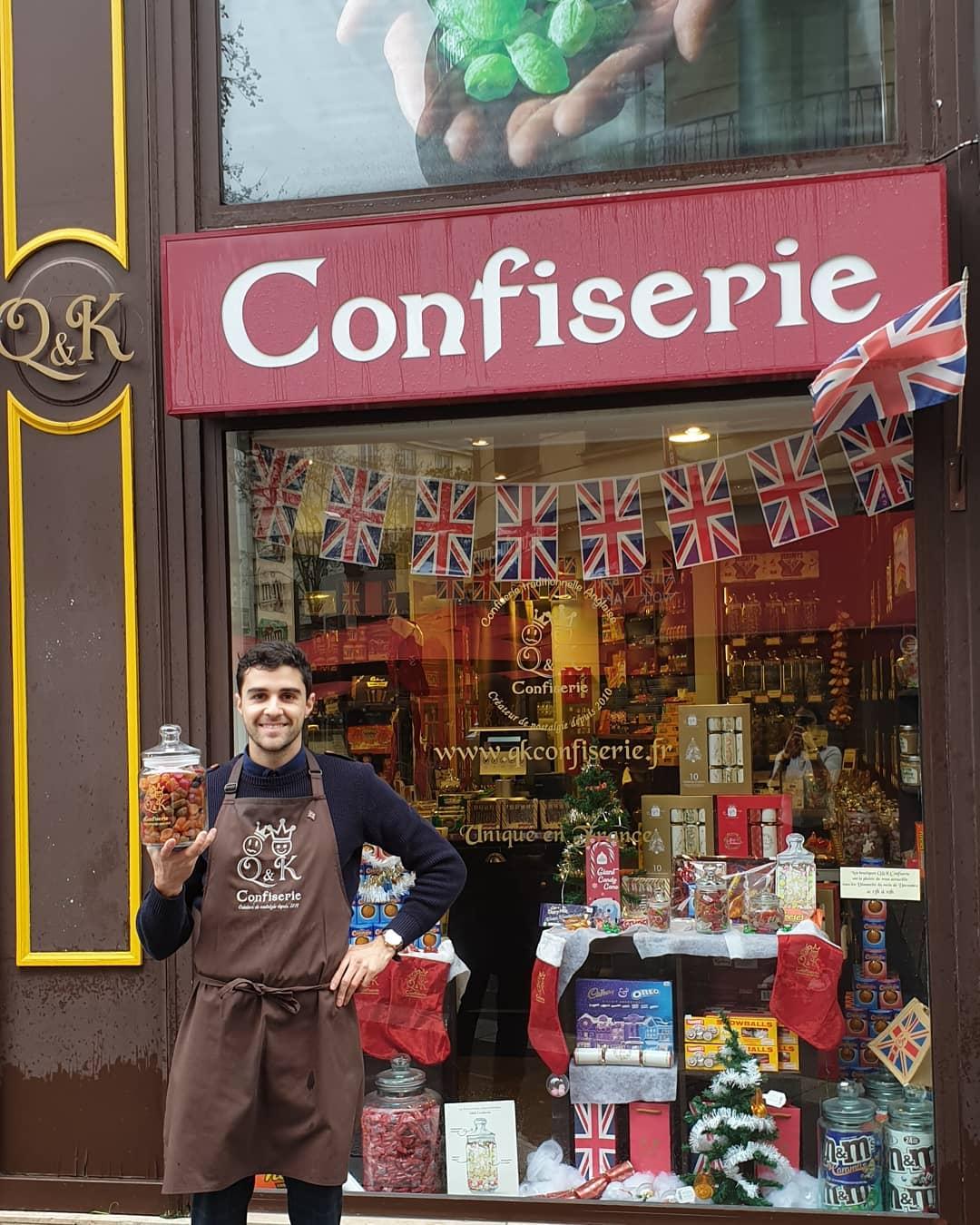Boutique de bonbons à Nantes, confiserie anglaise